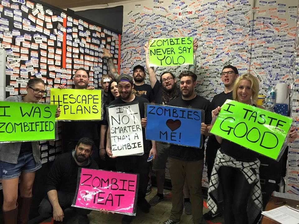 Trapped in a Room with a Zombie - Michigan Haunted Houses